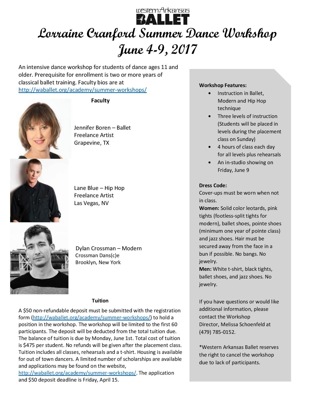 Lorraine Cranford Summer Dance Workshop Flyer-page-001